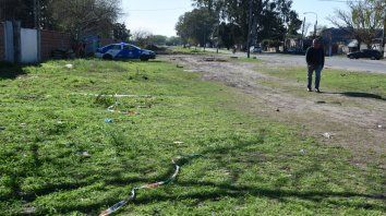 Lamadrid al 3700, en la zona suroeste de Rosario, donde la madrugada de ayer mataron a Zalazar.