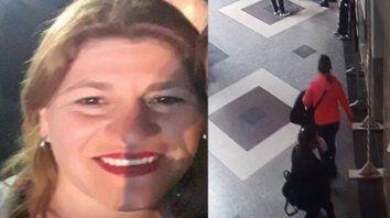 Desaparecida. Cecilia Burgadt quedó registrada por las cámaras del Hospital Cullen cuando salió de trabajar.