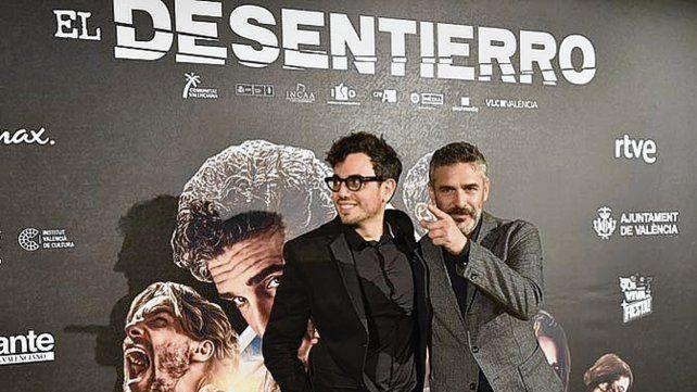 Debut. El director Nacho Rupiérez junto a Sbaraglia.
