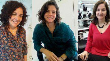 merecido. Vanesa Gottifredi (izq.), Noelia Weisstaub y Antonia Marín-Burgin, las galardonadas.