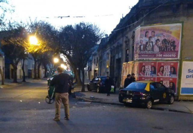 Un taxista murió después de chocar en Sarmiento y Cerrito