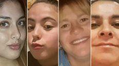 Cielo, Navila, Cecilia y Vanesa fueron asesinadas en los últimos días.