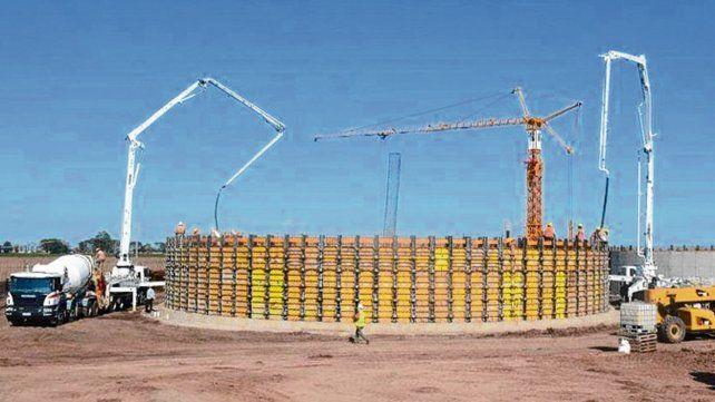 En obra. La planta de biomasa desarrollado por Seeds Energy.
