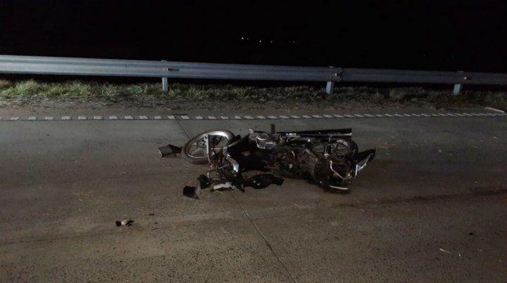 La moto en la que iba la víctima