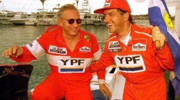 otros tiempos. Fabio Buzzi y Daniel Scioli, cuando eran compañeros..