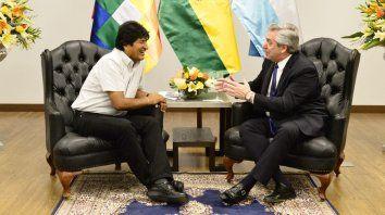 Alberto Fernández se reunió con Evo Morales