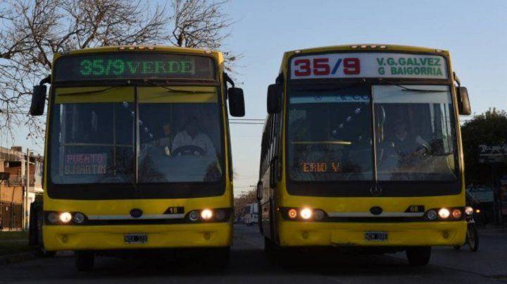 Afectados. La línea 35/9 fue una de las que modificó sus recorridos en algunas localidades.