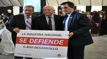 Grito federal. El almuerzo del Día de la industria en Rosario se convirtió en una proclama nacional.