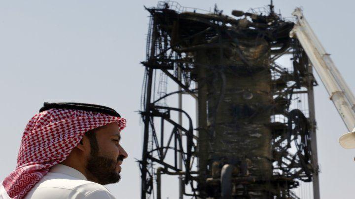 Daños. El campo petrolero saudí de Khurais atacado hace una semana.