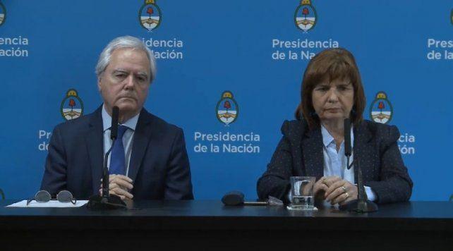 El senador Pinedo y la ministra Bullrich.