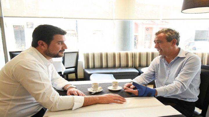 Reunión. Marcos Cleri dialogó con Pablo Javkin sobre los proyectos que tiene en carpeta para la ciudad.