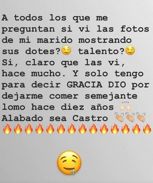Qué dijo Sabrina Rojas sobre las fotos hot de Luciano Castro