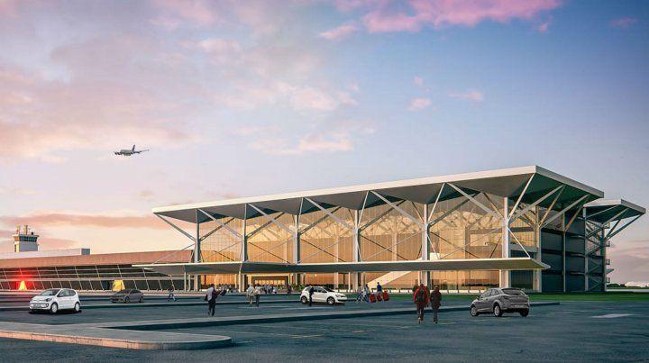 La maqueta del proyecto para el aeropuerto.
