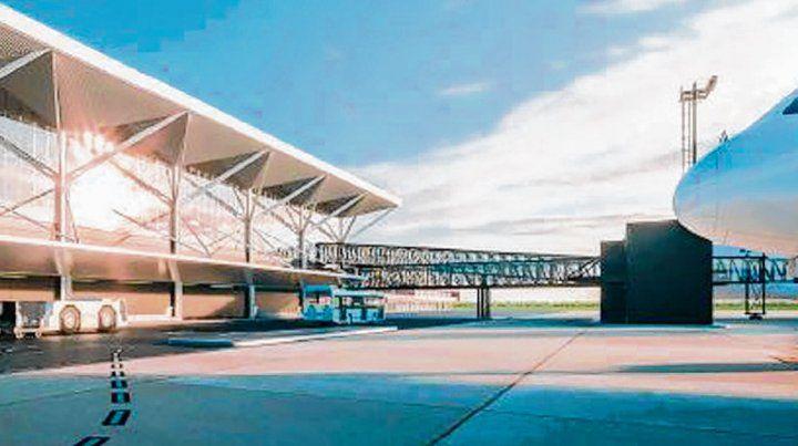 En obras. La nueva terminal se levantará junto a la estructura actual.