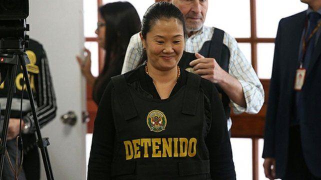 Keiko Fujimori está detenida.