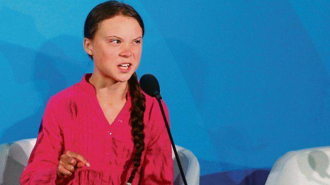 Enérgica. La sueca Greta Thunberg llama la atención al mundo entero sobre los efectos del cambio climático.