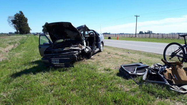 El choque fue en el acceso a Chovet. El vehículo en que iba Valente.