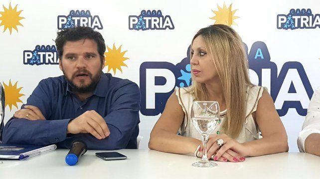 Acá. Bernal estuvo en Rosario en Casa Patria invitado por la senadora Sacnun.