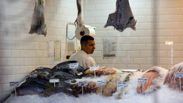 Pescado. En varios de los comercios la transacción se produce de productor a consumidor