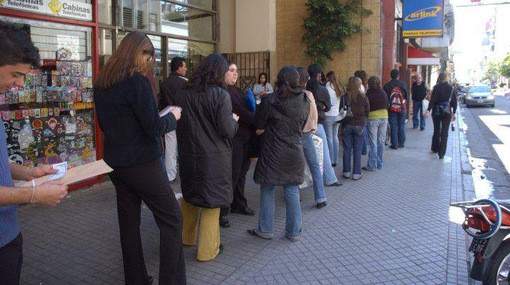 Demanda. Ya en 2018 la Feria de Empleo Joven mostró en Metropolitano las dificultades para hallar trabajo.