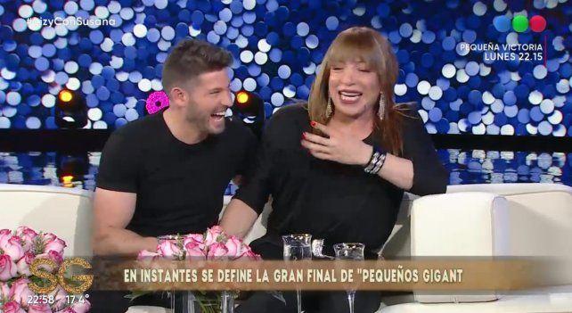 Lizy Tagliani presentó a su novio en el programa de Susana