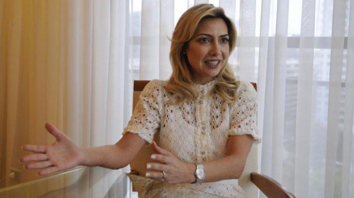 Fabiola Yañez fue entrevistada en el departamento que comparte con Alberto Fernández.