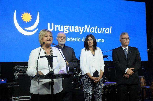 Kechichian, Liberoff, Hyara Rodrñiguez, directora General de Secretaría, y Carlos Fageti, director Nacional de Turismo. (Foto: gentileza Willy Donzelli)