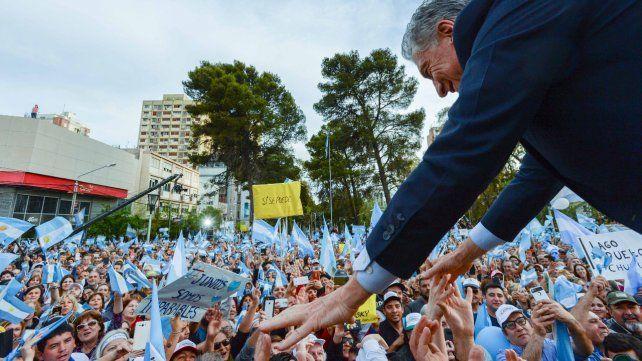 Contacto. Macri llevó a Neuquén su marcha del Sí