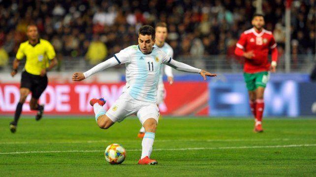 A la cancha. Correa será uno de los atacantes en el equipo de Scaloni. No juega en la selección desde el amistoso con Marruecos de marzo.