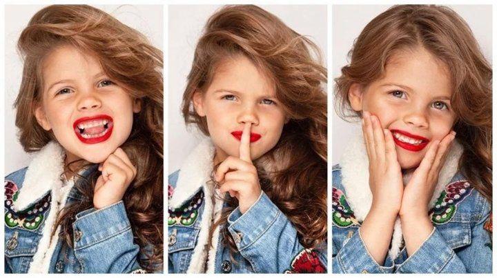 Francesca Icardi, con apenas cuatro años, debutó como modelo