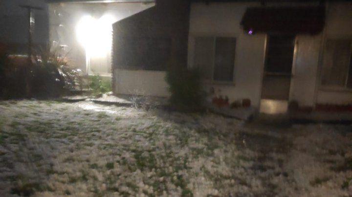 En Pergamino cayó granizo durante 15 minutos y causó múltiples daños