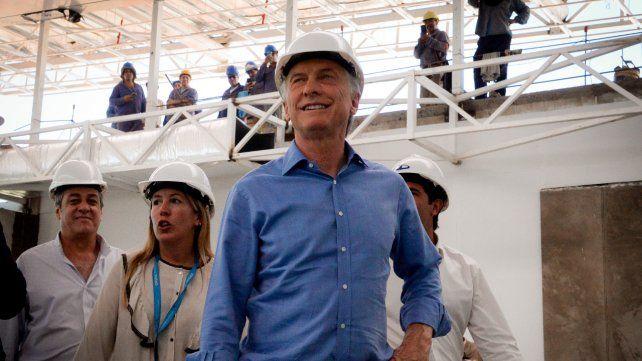 De recorrida. El presidente Macri visitó obras en marcha en Misiones.