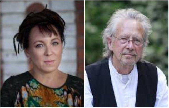 La escritora polacaOlga Tokarczuky el autor austríacoPeter Handke ganaron el Nobel de literatura.