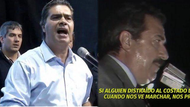 Jorge Capitanich copió un discurso de Raúl Alfonsín en un acto de campaña