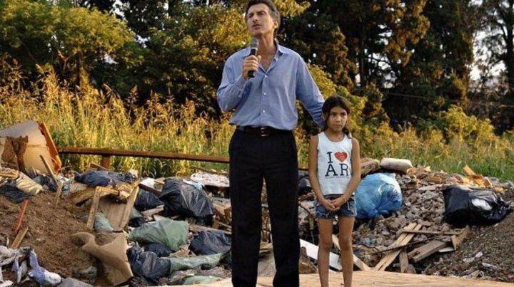 Pobreza. Macri cuando fue candidato en 2007 a jefe de Gobierno.