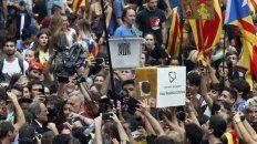 caos. Urnas por las calles de Barcelona el 1º de octubre de 2017.