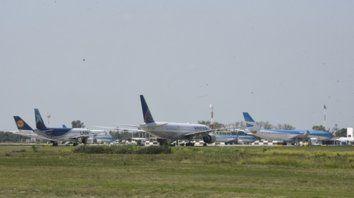fisonomía. Se pudieron observar aeronaves de gran porte, atípicas en el movimiento cotidiano del aeropuerto.