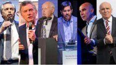Preparados. Los seis candidatos a presidente protagonizarán hoy, a partir de las 21, el primer debate obligatorio por ley en el país.