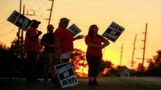 Los huelguistas de Estados Unidos.