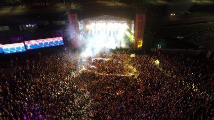 Lo mejor de la noche. Las Pelotas hizo el show más logrado del segundo Festival Bandera en Rosario.