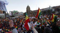 Oposición movilizada. El cabildo que realizó la oposición en el centro de La Paz el jueves pasado.