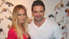 Luciano Castro con su esposa, Sabrina Rojas.