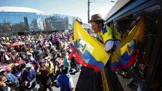 Despedida. Los militantes indígenas dejaron Quito.