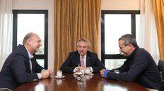 café para tres. Perotti, Fernández y Javkin se reunieron en el piso 15 de un hotel del centro de la ciudad.