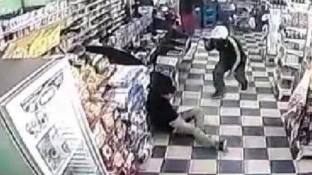 Imagen de video del crimen.