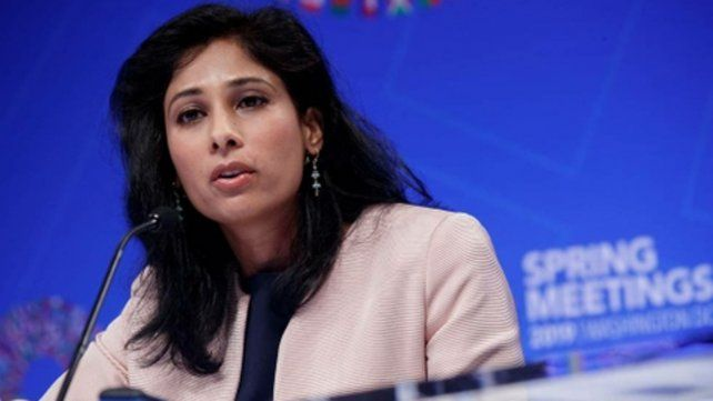 Pesimista. La economista jefa del FMI, Gita Gopinath, presentó el informe sobre la economía mundial.