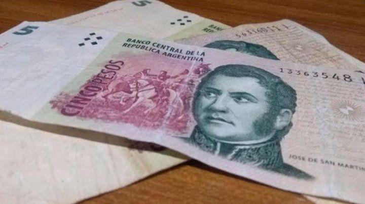 Cuándo sale de circulación el billete de cinco pesos