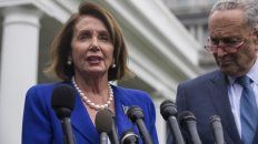 firmes. Nancy Pelosi, titular de Representantes, y el senador Chuck Shumer.