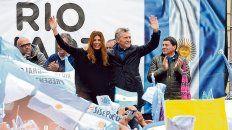 Gira cordobesa. Macri encabezó un acto de la caravana del Sí, se puede en la ciudad de Río Cuarto.