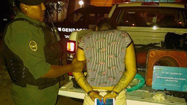 presa. Brenda al ser detenida en el barrio Acíndar en febrero de 2018.